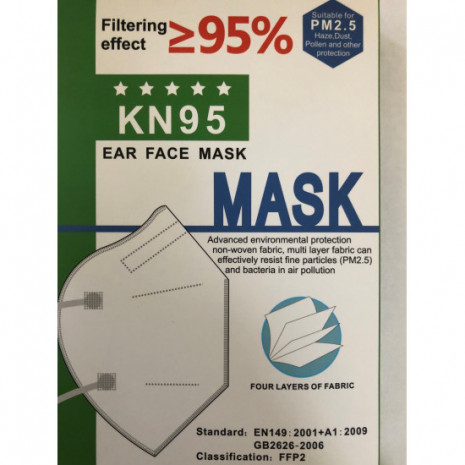 Disposable 4 Layer Face Covering (Box of 20)
